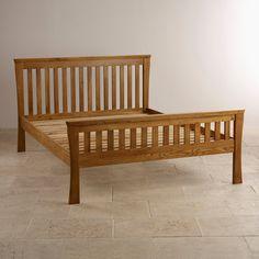 Orrick Rustic Solid Oak King-Size Bed   Bedroom Furniture