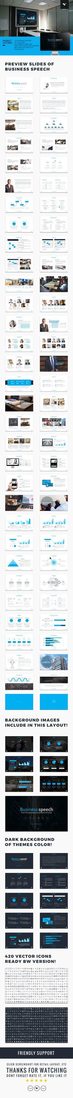 Business speech google slide presentation Template #design #slides Download: http://graphicriver.net/item/business-speech-google-slide-presentation-template/13654381?ref=ksioks