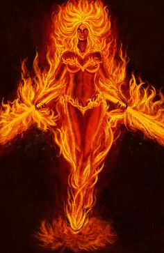 Fire Goddess Describes how I feel sometimes! Embody the Divine Feminine whatever her mood. Phoenix Art, Phoenix Rising, Dark Phoenix, Fire Image, Flame Art, Fire And Ice, Divine Feminine, Gods And Goddesses, Fantasy Artwork