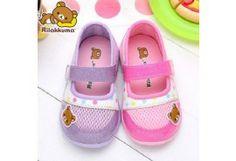 San-x Rilakkuma Girl's Toddler Slip-On Sneakers Shoes KM8214