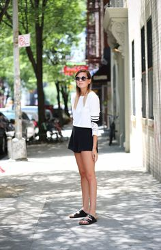Pixie Market top, Topshop shorts