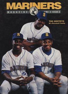 Mariners Magazine Ken Griffey Craig Griffey & Ken Griffey Jr 2 Brothers, Ken Griffey, Seattle Mariners, Michelle Obama, Sons, Military, Baseball Cards, Magazine, Lady