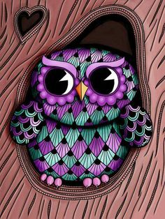 Owl Tree Art Print by Michelle Bowden Art Owl Tree, Tree Art, Owl Wallpaper, Owl Canvas, Whimsical Owl, Owl Cartoon, Owl Pictures, Beautiful Owl, Owl Crafts