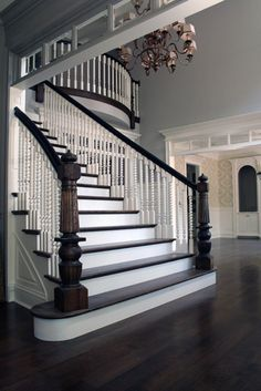 Staircase...love this beside the living room