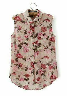 a1a82686450 To find out about the Pink Lapel Sleeveless Floral Dipped Hem Blouse at  SHEIN