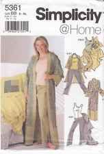 S-5361 Sewing Pattern Uncut Misses Robe Pants Top Blanket Size S-XL(18W-32W)