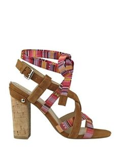 e7b76ea0595944 GUESS Women s Cariel Lace-Up Sandals