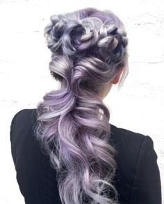 #rainbow #purplehair #haistyle