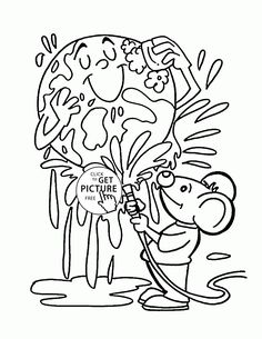 Searching for various methods to teach your kid about importance of Earth Day? Now celebrate this day with these 20 free printable Earth Day coloring pages. Importance Of Earth Day, Earth Day Coloring Pages, Coloring Pages For Kids, Kids Coloring, Earth Day Crafts, Page Online, Warm Colors, Independence Day, Free Printables