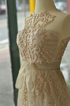 Embroidered RoyAnne Camillia gown ♡♡♡  #weddings #Gowns #embroidery #lace #couture