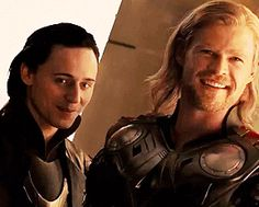 Loki looks at his brother in a such cute way <3333