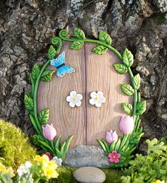 Fairies garden 477522366720214949 - Miniature Fairy Garden Ivy Door Tree Accent Source by elvinestates Fairy Garden Doors, Mini Fairy Garden, Fairy Garden Houses, Fairy Doors, Garden Art, Fairies Garden, Diy Jardim, Door Tree, Clay Fairy House