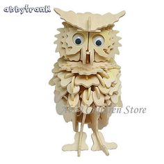 Cheap toys for children, Buy Quality puzzle diy directly from China puzzle Suppliers: Abbyfrank Owl Model Puzzles Wooden Puzzles DIY Toy Woodcraft Handmade Toy Learning Educationa Toys For Children Kids Adult 3d Puzzles, Wooden Puzzles, Toddler Gifts, Kids Gifts, Owl Clothes, Cheap Toys, Modelos 3d, Stress Relief Toys, Waldorf Toys