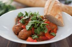 Best Crock Pot Recipes on the Net (March 2014): Slow Cooker Sausage and Peppers