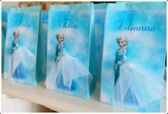 Personalised Frozen Elsa Birthday Party Loot Favour Bag by mycupofteaparties on Etsy
