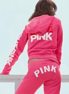 vs pink. goodbye ill fitting, grungy sweatsuits!