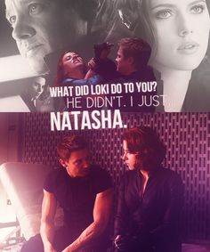 What did Loki do to you? / He didn't. I just - / Natasha. || Clint Barton, Natasha Romanoff || The Avengers || 500px × 600px || #fanedit