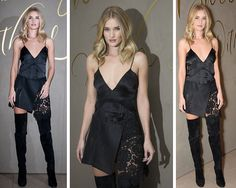 Rosie Huntington-Whiteley at the Burberry Xmas event