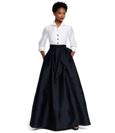 Shop for Adrianna Papell Button-Down Blouse 3/4 Sleeve Bow Taffeta Gown at Dillards.com. Visit Dillards.com to find clothing, accessories, shoes, cosmetics & more. The Style of Your Life.