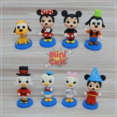 Toy Art, Disney Word, Kawaii, Mini, Cake Toppers, Biscuits, Cold, Cold Porcelain Ornaments, Daisies