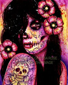 I'll Never Forget Art Print  Day of the Dead Pop by NeverDieArt, $7.00