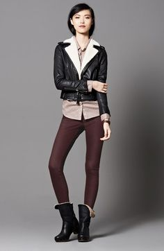 #HUE Waxed Denim Leggings in Espresso #AllTheHUEs