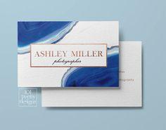 Gemstone business card modern business card design blue agate