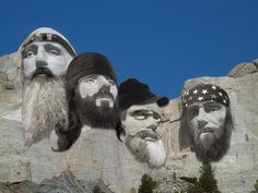 """Mount DuckMore: """"From this pulpit of stone the American people render thanksgiving and praise for the new era of beards brought forth upon this continent"""" – William Andrew Burkett."""