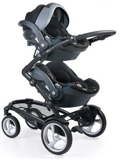 Two BeSafe carseats used in conjunction with a mima kobi