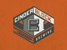 Cinder Block Brewery, Main Logo Round 1, Designed by Tim Sullentrup
