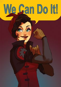 Rosie the Riveter inspired Asami from Legend of Korra, by ~temporary-glitch