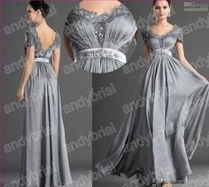 Wholesale Mother Of the Bride Dress - Buy 2014 Hot Sell Prom Dresses Stylish Lace Sexy Mother Of the Bride Dresses Scoop Floor-Length Mother Dress Short Sleeve Evening Gowns, $130.39 | DHgate