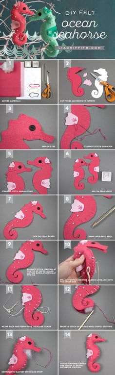 #feltcraft #feltseahorse #kidscraft www.LiaGriffith.com