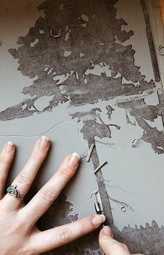 282 Likes, 13 Comments - Lauren Crowe Work Week, Studio Art, Blue Ridge, Printmaking, Hand Carved, Carving, Fine Art, Mountains, Feelings