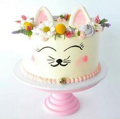 Ideas for birthday cake kids girls cat Birthday Cake For Cat, Cool Birthday Cakes, Birthday Cupcakes, Girl Birthday, Birthday Ideas, Kitty Party, Animal Cakes, Gateaux Cake, Girl Cakes
