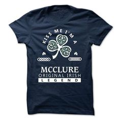 MCCLURE - KISS ME I\M Team - #grandparent gift #thoughtful gift. GET YOURS => https://www.sunfrog.com/Valentines/-MCCLURE--KISS-ME-IM-Team.html?68278