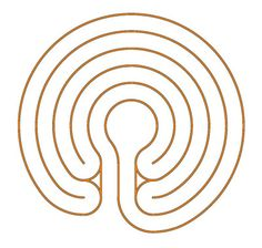 the snail shell labyrinth with crossings of the axis in the middle rh pinterest com Pinterest the Adventures of Elmo in Grouchland Draw a 7 Circuit Labyrinth