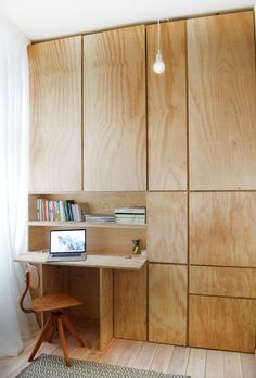 I love this hidden desk in storage, it would make having an office in a small space such as a bedroom possible and yet so chic at the same time.