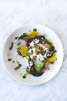 beets, goat cheese,
