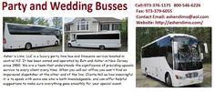 Brand new party and wedding buses are available for rent. Contact asherslimo.com and hire our services