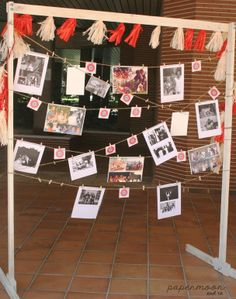 Estructura con fotos 40 cumpleaños. http://www.papermoonandco.com/