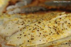 baked tilapia up close