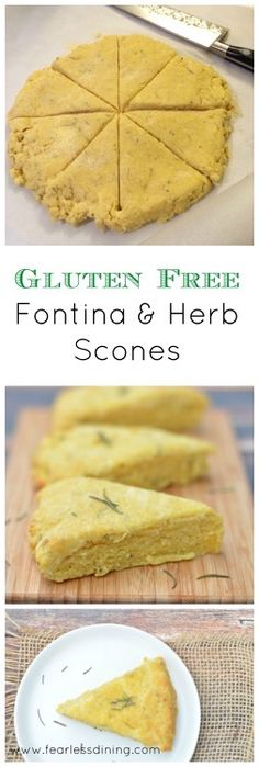Gluten Free Fontina and Herb Scones   http://www.fearlessdining.com