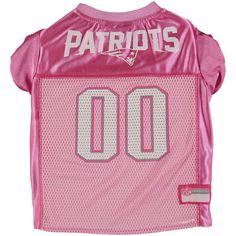 Pink New England Patriots Mesh Dog Jersey