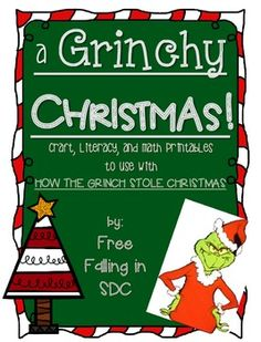 This is the first year that I used this craft and activities with my kiddos. They really enjoyed  putting their own Grinch together. Amazing how far they have come in their cutting skills   What's Included??? *All templates for the Grinch craftivity pictured.