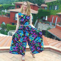 I am in this clown position merely to point out that my vintage dress was, in fact, a jumpsuit. @alvaro_gonzalez_official your sandals were a perfect match❤️ #HotelIlPellicano50
