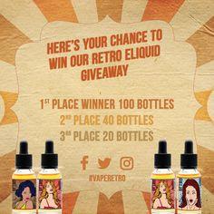 Retro E-liquid Giveaway Competition Starter Kit https://gleam.io/aE2VZ-lVikh3