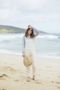 (Top: Brandy Melville , Dungarees: Topshop , Shoes: Salt Water Sandals , Bag: Tidy Street Store  (similar here )   Whilst in St. Ive...