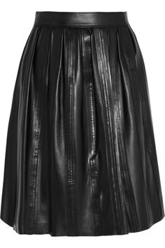 Leather Midi skirts please! This one from Burberry