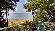 The views speak for themselves at this Pentwater, Michigan home!